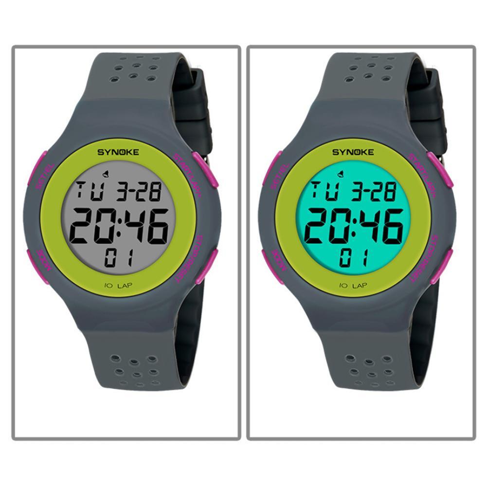 digital watch Ultra-slim Hollowed Band Luminous Waterproof Digital Unisex Sports Wrist Watch watch men watches