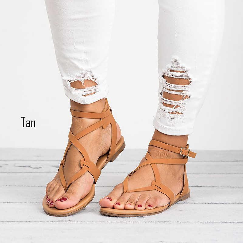 Tangnest 2019 Sommer Tanga Sandalen Frau Schnalle Wohnungen Slip Auf Solide Damen Flip-Flops Mujer Täglichen Mode Schuhe XWZ4947