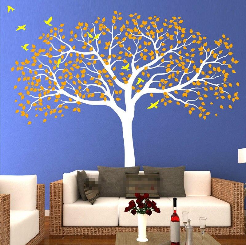 210*250 см большие детские дерево настенные наклейки виниловая наклейка художественная роспись съемные ТВ Фоновые наклейки Муро обои росписи ... - 2