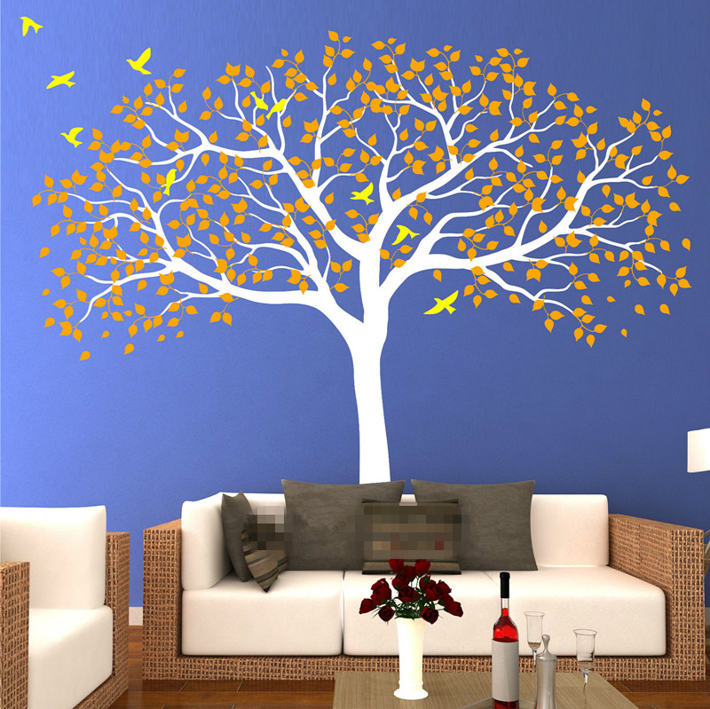 210*250cm Large Nursery Tree Wall Stickers Vinyl Decal Art Mural Removable TV Background Stickers Muraux Wallpaper Mural D472 - 2