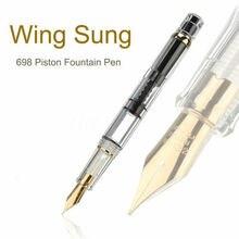 2019 Model Wing Sung 698 Transparent Piston Fountain Pen Extra Soft Nib