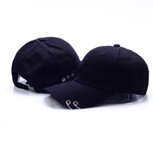 VORON Hot selling 2017 New BTS JIMIN Fashion K POP Iron Ring Hats Adjustable Baseball Cap 100% Handmade Ring