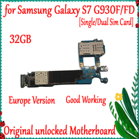 100% Original unlocked for Samsung Galaxy S7 G930F G930FD Motherboard,32gb for Galaxy S7 G930F G930FD Mainboard with Android OS