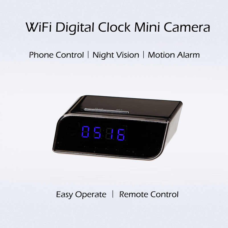 Time Alarm Clock 1080P WIFI Mini Camera Wireless Motion Sensor Nanny H.264 IP Security Night Vision Micro Home Remote Monitor