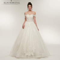 Elegant Off The Shoulder Wedding Dresses 2018 Lace Tulle Handmade Bridal Gowns A Line Casamento For