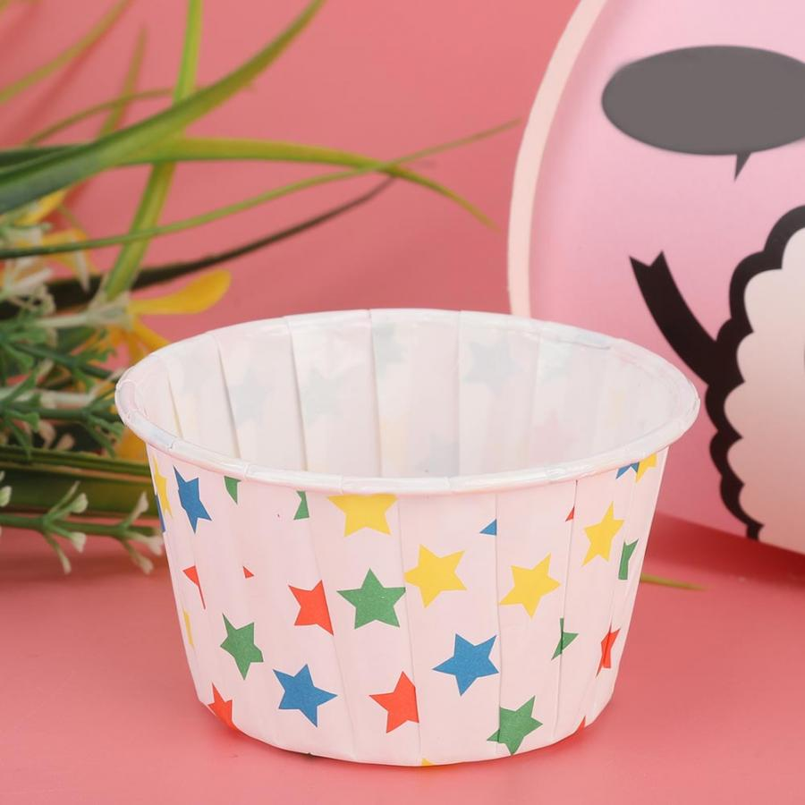 Pastry Forms Cream Cakes 50PCS Mini Cupcake Liners Paper Round Cake Baking Cups Muffin Cases for Home Party Wedding Supplies