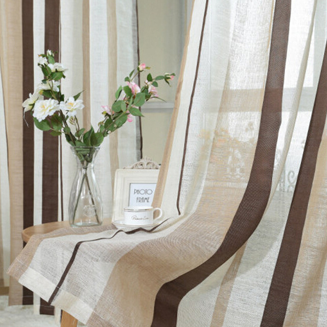 Cafe Kitchen Curtains Stripes In Diffe Sizes Retro Style Tulle For Living Room Lines Fabrics Blinds