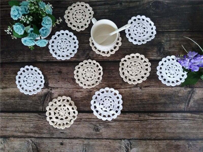 10cm Round Vintage Cotton Christmas Placemat Table Placemat Cloth