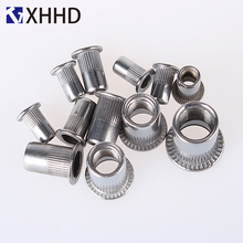 Flat Head Rivet Nuts Metric Thread Insert Riveting Nut Rivnut Nutsert 304 Stainless Steel M3 M4 M5 M6 M8 M10 M12 metric thread m3 m4 m5 m6 m8 m10 m12 304 stainless steel blind insert rivet nut rivnut brand new