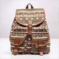 HOT Fashion Canvas Women Backpacks Girls Floral School Bags Geometric Printing bolsas mochila feminina Large Travel Bag Sac