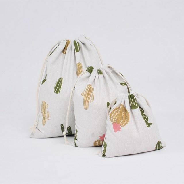 Cactus Drawstring Storage Bag