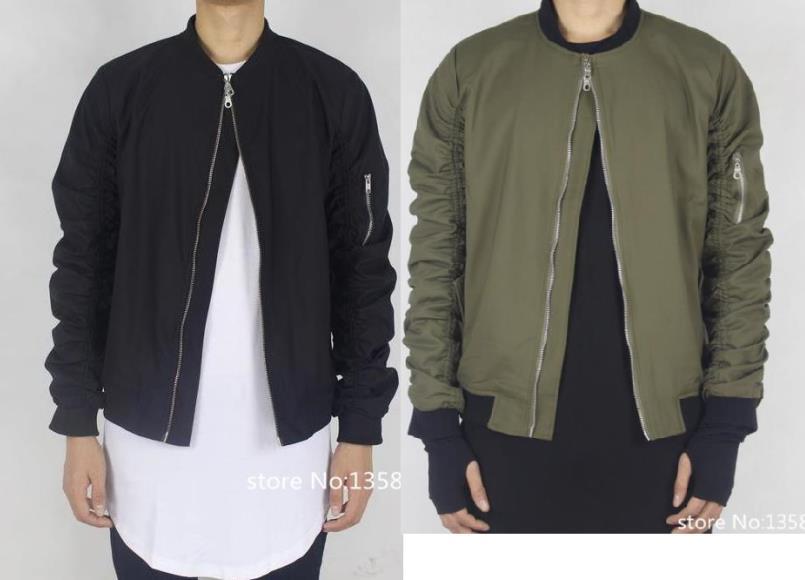 a6cb11828b0 cool bomber jacket black olive green men biker kanye west hip hop flight  brand last kings hba swag clothes pyrex black star XXXL-in Jackets from  Men s ...