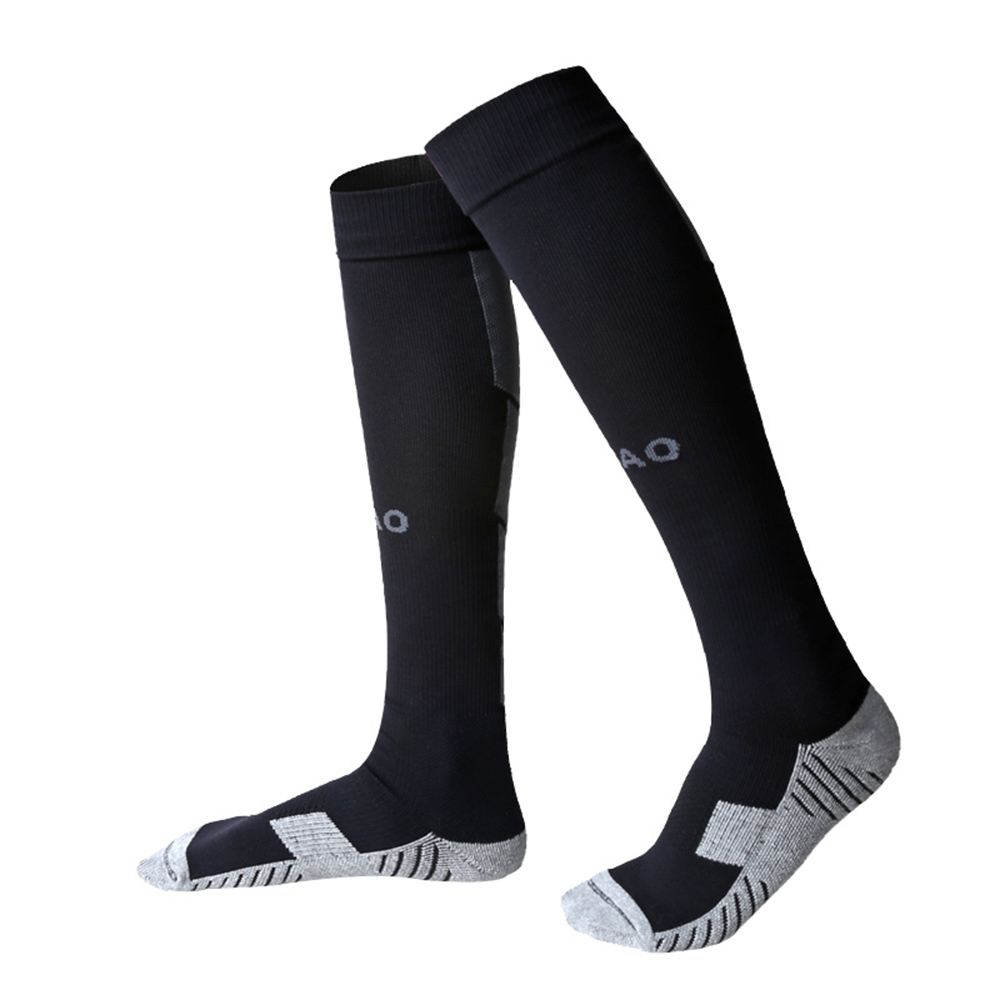 1 Pair of Non-slip Football Socks Adult Knee High Socks Long Loom Socks Breathable Outdoor Sports Socks Compression Socks