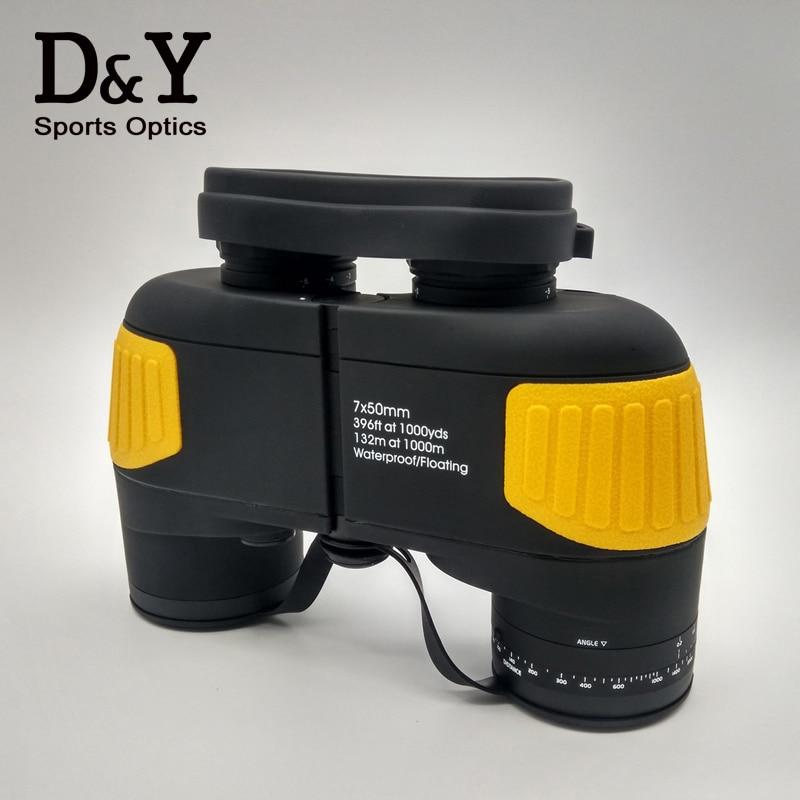 Hight quality 7X50 font b Rangefinder b font military binoculars Professional marine floating binocular telescope DYB012