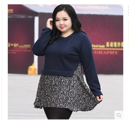 New autumn and Winter plus size big dresses for chubby women warm two pieces set crochet cashmere floral long sleeve XL-5XL
