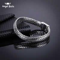 Древний серебряный Модный панк Будда браслет для женщин браслеты