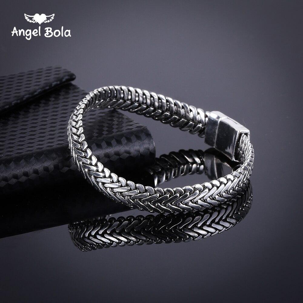 Pulseira de prata antiga moda punk buda para as mulheres diy pulseiras encantos pulseiras homens pulseira jóias presentes B1019-16