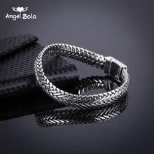 Ancient Silver Fashion Punk Buddha Bracelet for Women DIY Bangles Charms Bracelets Men Pulseira Jewelry Gifts B1019-16