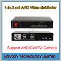 O Envio gratuito de 1 Em 2 Out BNC Composite Distribuidor de Vídeo 1CH Para 2CH amplificador Splitter Para CCTV Segurança Câmera DVR sistema