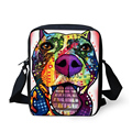 FORU Designer Messenger Bags for Women Men Lady Crossbody Bags,Bolsos Mujer Yorkshire Terrier Bull Dog Printed Shoulder bag 2017