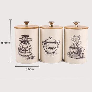 3 Pièces Fer épices Thé Feuilles Sucre Stockage Pot Bidon Conteneur Cuisine Approvisionnement Café En Poudre Vintage Organisateur Canettes Nouveau