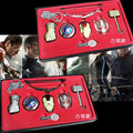 6 pçs/set colar marvel avengers age of ultron armas cosplay thor martelo colar de metal colar de pingente de super hero