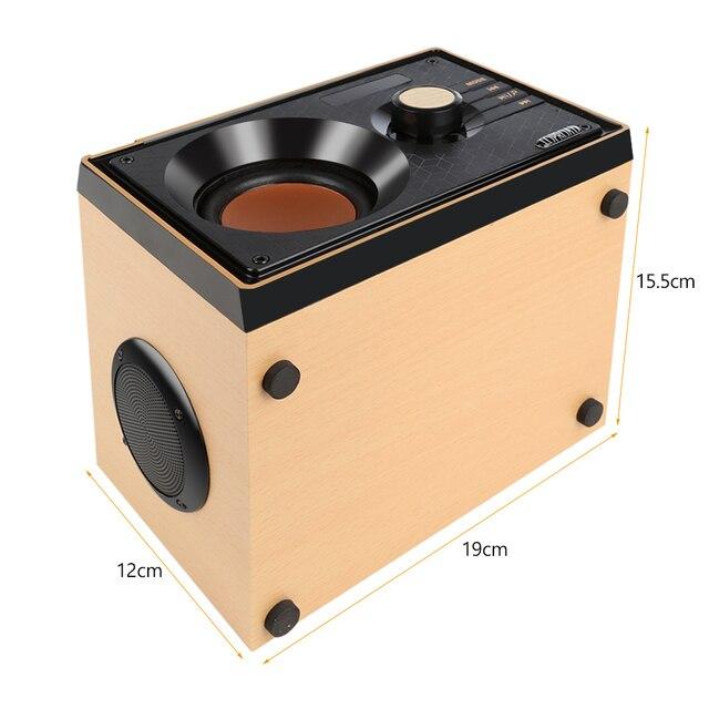 Holz Bluetooth Lautsprecher Drahtlose Bluetooth Subwoofer Outdoor Stereo Lautsprecher MP3 Musik-Player Unterstützung FM und TF Fernbedienung
