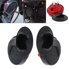 Car Motorcycle Snail Horn Red 12V Air Treble 4 Inch 100W Two way for Electric Motorcbike