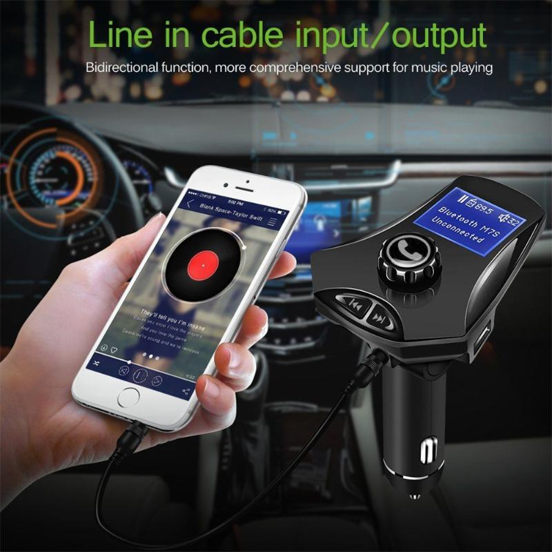 Vodool Bluetooth FM Transmitter with Port USB Car Wireless Charger MP3 for Phone