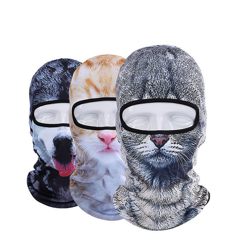 3D Animal Hat Cat Dog Bicycle Cycling Motorcycle Hats Balaclava Windproof Snowboard Party Halloween Full Face Mask