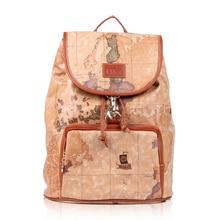 Продвижение Новинка 2015 карта мира моды сумка кожаная сумка ПВХ старинные рюкзак женский слово карта сумка #731 Бесплатная доставка