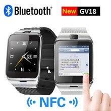 Smart watch gv18 mit kamera sync notifier unterstützung sim-karte bluetooth-konnektivität iphone android telefon smartwatch digitalwatch