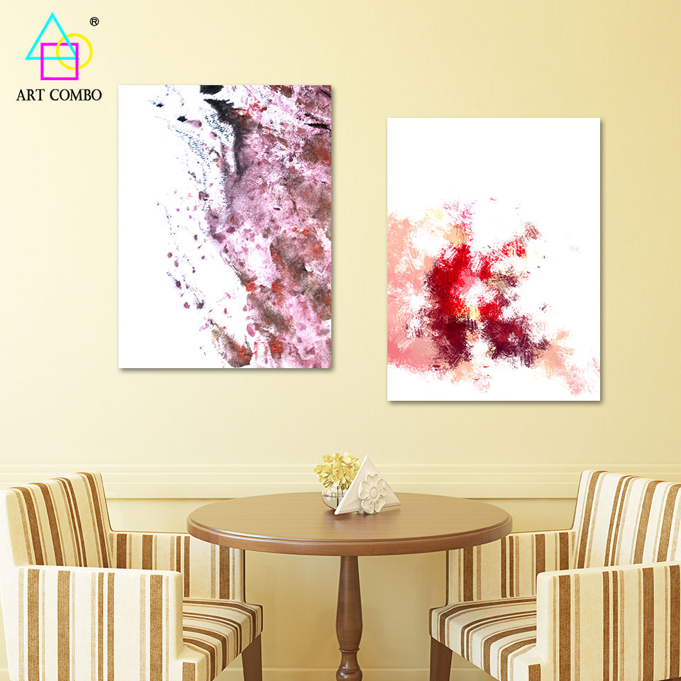 Modern Canvas Painting Abstract Artwork Spray Paint Drawing Home ...
