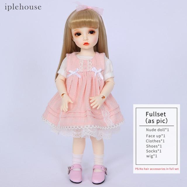 Free Shipping BJD Dolls Iplehouse Elin BID IP 1/6 Fashion cut High Quality Girl Toys Xmas Gifts Dollshe 5
