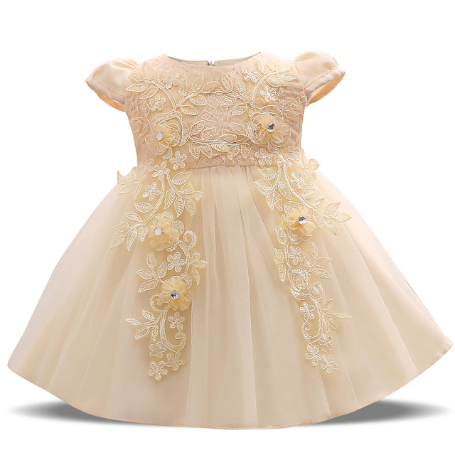 Little Baby Party Dress For Girl Tutu Outfit Beautiful Lace Crochet ...