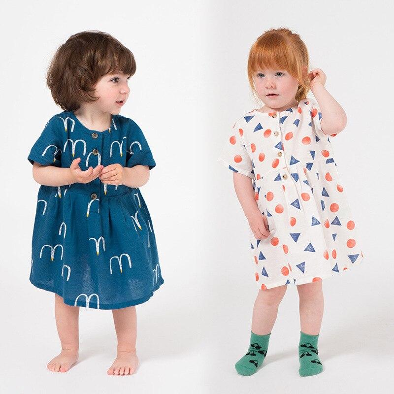 f20f7d522 2019 BOBO CHOSES vampiro princesa niñas vestido de fiesta vestidos de algodón  para niñas moda bebé niña ropa