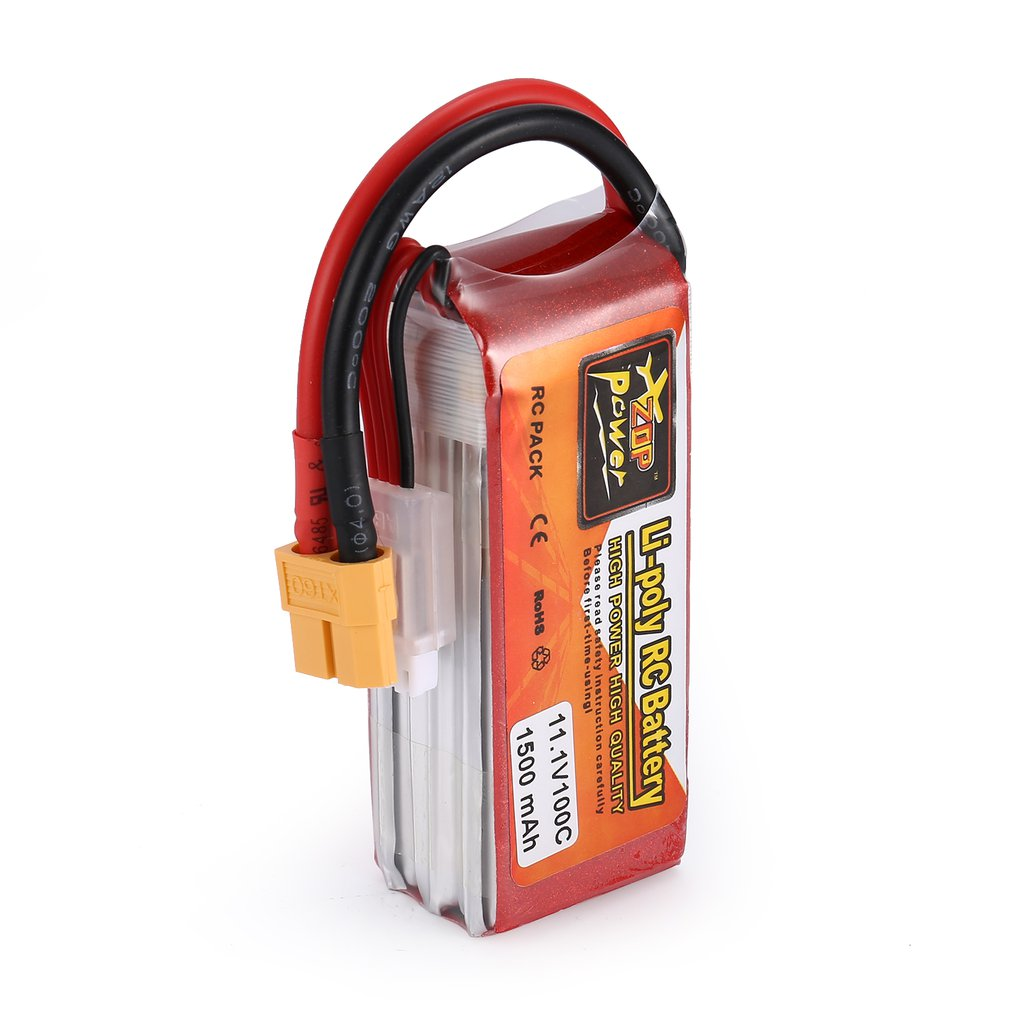 ZOP Power 7.4V/11.1V 1500mAh 100C 2S/3S1P Lipo Battery XT60 Plug Rechargeable for RC Racing Drone Helicopter Car Boat Model