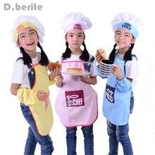 Милый детский фартук, модный головной убор шеф-повара, карманный набор для детей, художественное ремесло, Кухонный Фартук для приготовления пищи, выпечки, сделай сам, живопись SYT9244