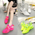 European Grand 2016 Spring And Summer New Shoes Casual Candy Fluorescent Color Women Shoes Breathable Mesh Shoes