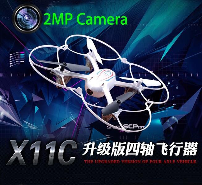 Alta calidad x11c hd cámara drone 2 unids batería syma 2.4g 4ch rc quadcopter co