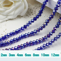 5040 AAA Top Sapphire AB Color Loose Crystal Glass Rondelle beads.2mm 3mm 4mm,6mm,8mm 10mm,12mm Free Shipping!