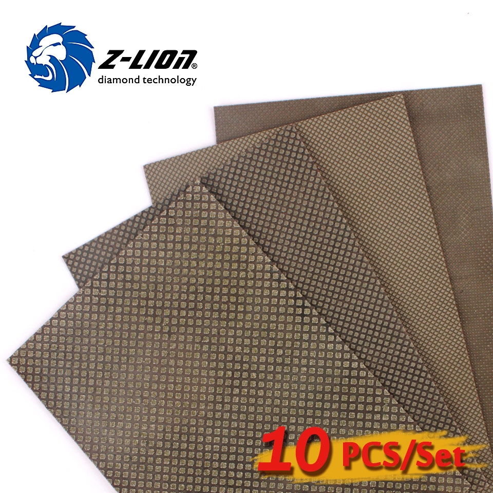 Z-LION 10PCS  Diamond Sanding Paper 120*180mm Diamond Electroplated Hand Polishing Sheet Sandpaper For Grinding Glass Ceramic free customs duty 36v water bottle battery 36v 17 4ah lithium ion electric bike battery use panasonic 2900mah cell 15a bms