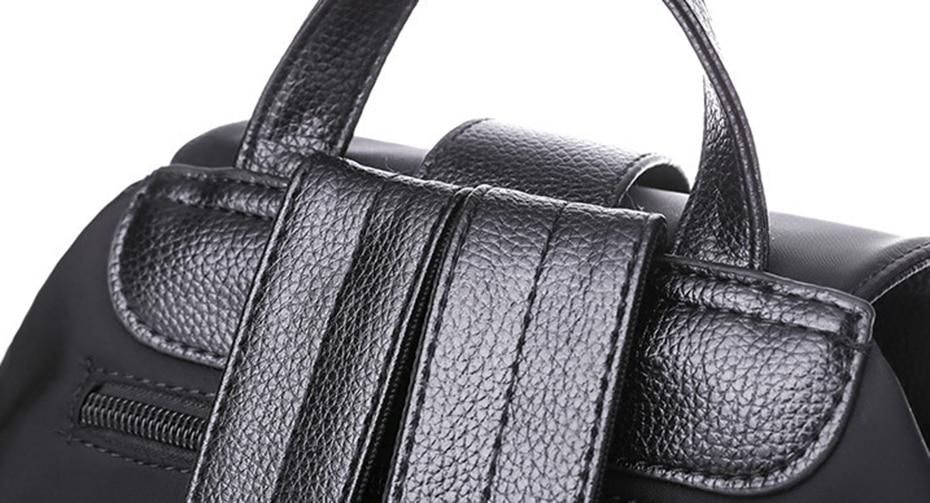 HTB1AmgOJ1uSBuNjSsplq6ze8pXaY Women Backpack School Bags For Teenager Girls Nylon Zipper Lock Design Black Femme Mochila Female Backpack Fashion Sac A Dos