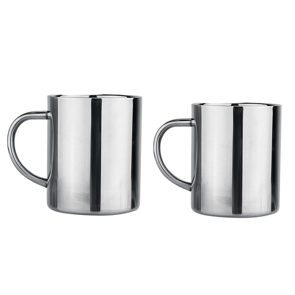 300ML/400ML Double Wall Stainless Steel 9OZ Tea/Beer/Coffee Mug Children Cup Kitchen Measuring Cups Kitchen accessaries
