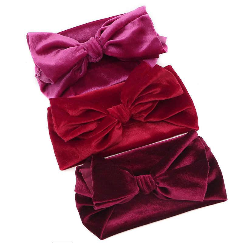 GZHilovingL 0-5 mois nouveau-né bébé garçons filles velours bandeaux arc cheveux bande enfants enfant coton tête Wrap cheveux accessoires