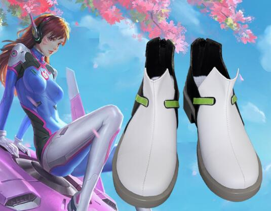 Nouveau personnage de jeu D. VA Cosplay Costumes chaussures DVA Cosplay chaussures femmes Ganme Cosplay chaussures blanches