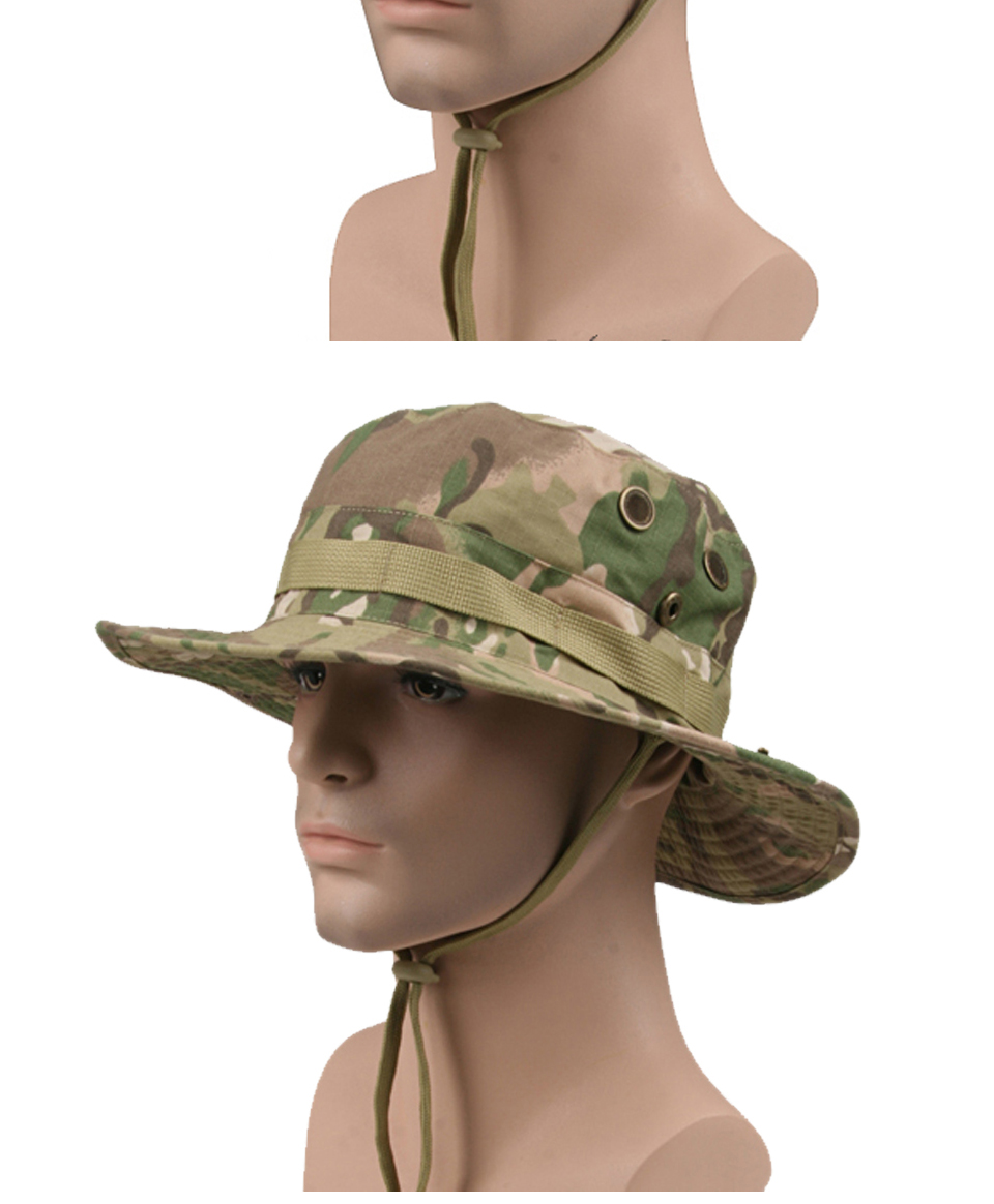 HTB1AmgmX8DH8KJjSszcq6zDTFXa4 - Multicam Tactical Airsoft Sniper Camouflage Bucket Boonie Hats Nepalese Cap SWAT Army Panama Military Accessories Summer Men