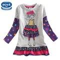 Vestido de las muchachas ropa de las muchachas novatx niños patrón ropa princesa del vestido ocasional del otoño del resorte vestidos de navidad para las niñas h3660