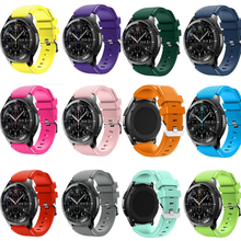 silicone strap sport band for samsung gear s3 s2 classic huawei watch 2 xiaomi huami amazfit pace lite pebble time steel 20 22mm Gai Sport Silicone Rubber Strap Watch Band For Samsung Gear S3 Frontier xiaomi huami amazfit pebble time steel 22mm