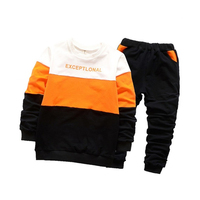 2018 Boys Clothing Set Tracksuits For Boys Cotton Letter Print Fashion Baby Children Costume Casual Kids
